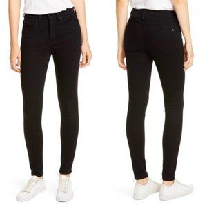 Rag & Bone High Rise Skinny Black Jeans